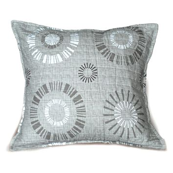 Tache Cotton 2 Piece Taupe Beige Starburst Throw Pillow Cushion Cover (CCSB-DXJ107076)