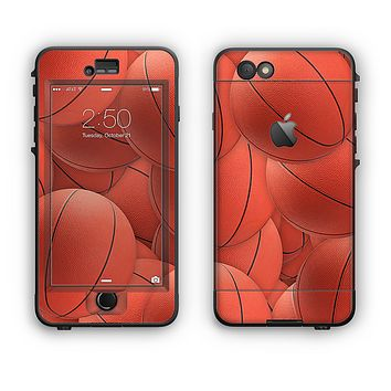 The Basketball Overlay Apple iPhone 6 LifeProof Nuud Case Skin Set
