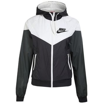 Nike Trending Women Men Casual Print Zipper Hoodie Cardigan Sweatshirt Jacket Coat Windbreaker Sportswear I