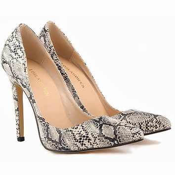 Pump Women Shoes Snake Leopard Zebra Grain Thin High Heels