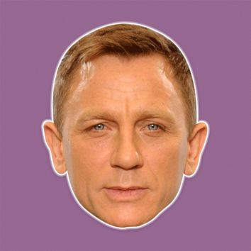 Cool Daniel Craig Mask - Perfect for Halloween, Costume Party Mask, Masquerades, Parties, Festivals, Concerts - Jumbo Size Waterproof Laminated Mask