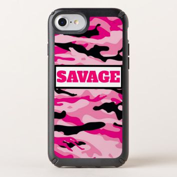 Pink Army Camouflage print Iphone case