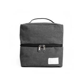 'Travel Pouch 130' Raw Waxed Black