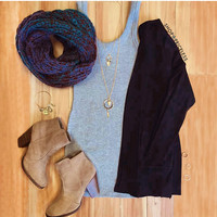 Enchanted Embrace Knit Scarf - Periwinkle