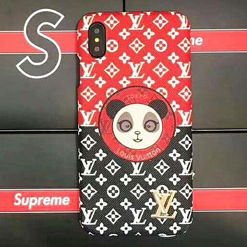 Supreme & LV Louis Vuitton Fashion New Monogram Dog Panda Protective Case Phone Case