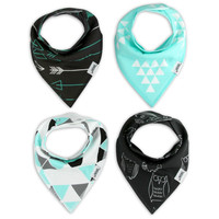 4pcs/Lot bib for Infant Newborn Baby Bibs Bandana Double layers Baberos bebes waterproof Girls boys Bib Bababor baby bavoir
