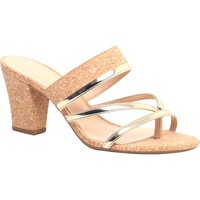 Sandal Medium Heel Golden - Cecconello