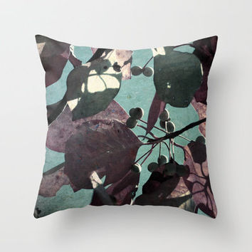 Fall Leaves  Throw Pillow by Stacy Frett