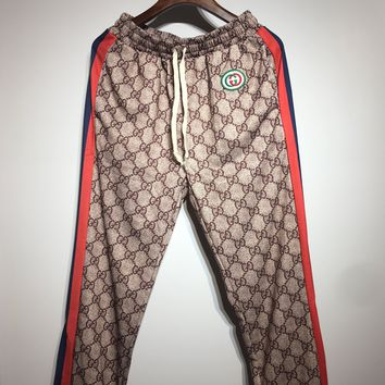 GUCCI Popular Women Men Casual Print Sport Pants Trousers Sweatpants