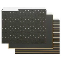 Sugar Paper® File Folder Set, 12ct - Black with Gold Accents