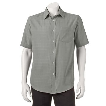 Croft& Barrow Solid Microfiber Easy-Care Casual Button-Down Shirt