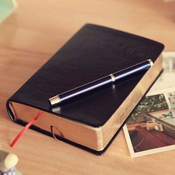 Notebook Notepad Leather Bible Diary Book Zakka Journals Agenda Planner