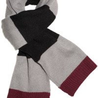 PRINTERS ROW STRIPE SCARF - Black