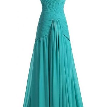 Mic Dresses Women's Chiffon Two Piece Beaded Crop Top & Long Skirt Prom Dress