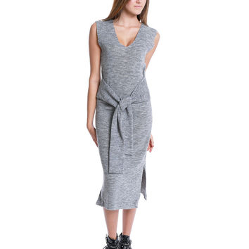 Recreation Sweater Sleeveless Dress - Gray