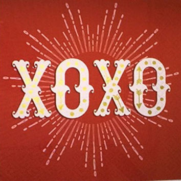 XOXO Red Paper Luncheon Napkins