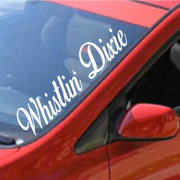 Whistlin Dixie Large Car Truck Window Windshield Decal Sticker
