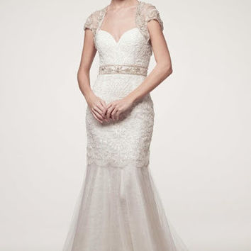 KCW1544 Art Deco Wedding Dress with Bolero by Kari Chang Eternal