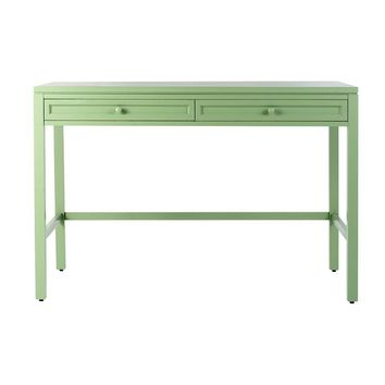 Martha Stewart Living Craft Space 36 in. H 2-Drawer Wood Craft Table in Rhododendron Leaf-0463420600 - The Home Depot