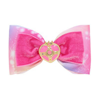Sailor Moon Cosmic Heart Moon Brooch Cosplay Hair Bow