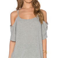Camilla Short Sleeve Top in Heather Grey