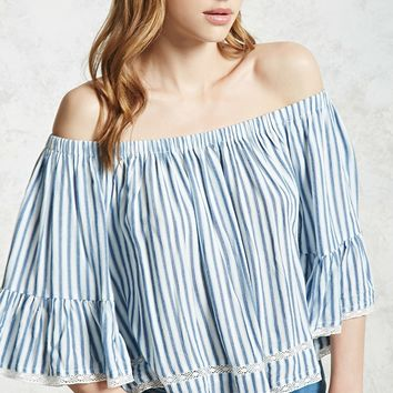 Off-the-Shoulder Stripe Top