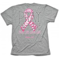 Cherished Girl Pray For A Cure Breast Cancer Awarenes T-Shirt