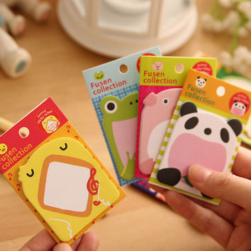 1pcs Zoo animal sticky note Cute animal Removable adhesive paper Kawaii stationery office accessories School supplies
