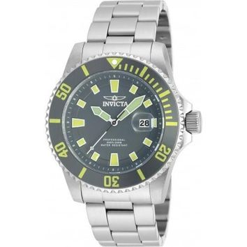 Invicta Men's 90193 Pro Diver Quartz 3 Hand Grey Dial Watch