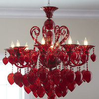 Red Chianti Chandelier
