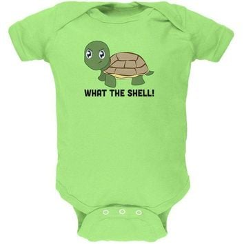 DCCKJY1 Turtle What The Shell Funny Pun Cute Soft Baby One Piece