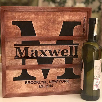 Anniversary Gifts for Couple Milestone Anniversary Personalized Gift for Him Wine box wedding gift 3 wine box anniversary gift for him