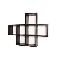 Cubby Laminated Walnut Veneer Shelving Unit by Danya B
