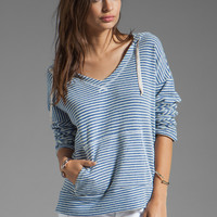Soft Joie Evita Striped Hoodie in Mazarine Blue from REVOLVEclothing.com
