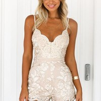 Shine Bright Like A Diamond Playsuit (Gold) | Xenia Boutique | Women's fashion for Less - Fast Shipping