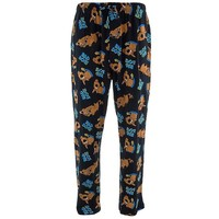 Briefly Stated Men's I Don't Bite Microfleece Pajama Pant, Black, Small