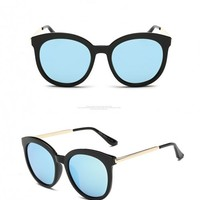 Retro Round Polarized Sunglasses -LB-0118