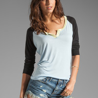 TOWNSEN Colorblock Baseball Top in Light Denim Blue from REVOLVEclothing.com