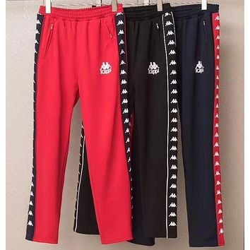 DCCKH3F Kappa' Tnt Tape Embroidery Casual Trousers Pants