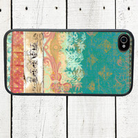 iPhone case Shabby Pink Fleur de Lis, fits iPhone 4, 4s - iPhone 5 Case