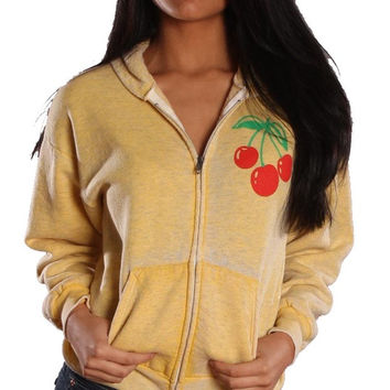 Jet Burnout Cherry Hoodie Yellow