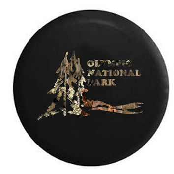 Olympic National Park Travel RV Camper Jeep Spare Tire Cover