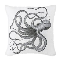 Large nautical steampunk vinta Woven Throw Pillow