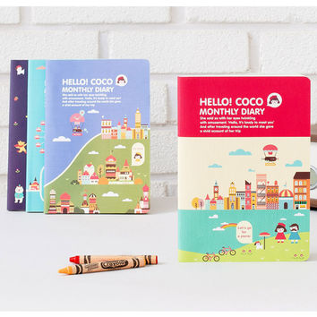 2016 Ardium Hello coco monthly dated diary scheduler