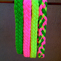 "Braided T-Shirt Headbands: ""I See the World In Neon and Neon"""
