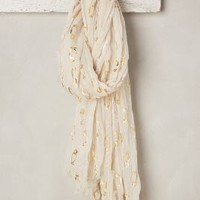 Golden Puffin Scarf by Anthropologie in Cream Size: One Size Scarves