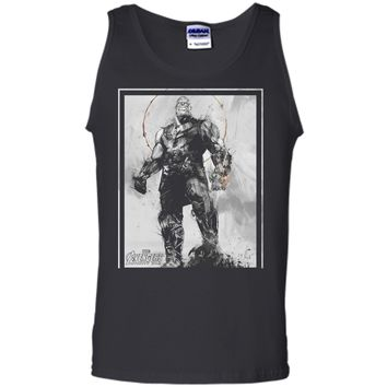 Marvel Avengers Infinity War Thanos Sketch Graphic  Tank Top