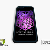 Attack on Titan Scouting Legion Galaxy iPhone Case 4, 4s, 5, 5s, 5c, 6 and 6 plus by Avallen