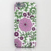 Mauve Raspberry Wildflowers iPhone & iPod Case by PeriwinklePeacoat