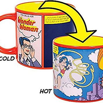 This Calls for Wonder Woman Coffee Mug - Add Hot Water and Watch Diana Prince Transform into Wonder Woman - DC Comics - Comes in a Fun Gift Box